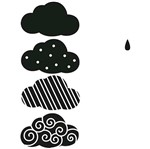 Carimbo de Borracha Litoarte CLP-145 Nuvens