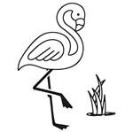 Carimbo de Borracha Litoarte CLP-125 Tropical Flamingo