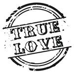 Carimbo de Borracha Litoarte CLP-161 Selo True Love