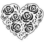 Carimbo de Borracha Litoarte CLP-167 Coração de Flores