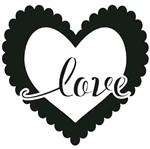 Carimbo de Borracha Litoarte CLP-168 Coração Love