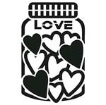 Carimbo de Borracha Litoarte CLP-169 Pote de Corações