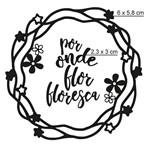 Carimbo de Borracha Litoarte CLP-179 Guirlanda por Onde Flor Floresça