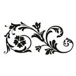 Carimbo em Borracha Arabesco com Flores Clp-030 - Litoarte