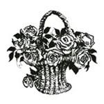 Carimbo em Borracha Cesta de Flores Clp-038 - Litoarte
