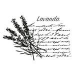 Carimbo em Borracha Lavanda Clp-070 - Litoarte