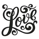 Carimbo em Borracha Litoarte CLP-115 Love