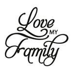 Carimbo em Borracha Love My Family Clp-050 - Litoarte