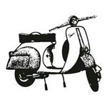 Carimbo em Borracha Moto Vespa Clp-062 - Litoarte