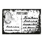 Carimbo em Borracha Post Card Clp-058 - Litoarte