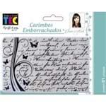 Carimbos Emborrachados 10 X 15 Cm Manuscrito Ref.16404-CAEIM06 Toke e Crie