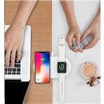Carregador Sem Fio Duplo Baseus Iphone 8, X, Xs e I Watch