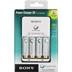 Carregador Sony Power Charger AA Cicle Energy com 4 Baterias Recarregáveis