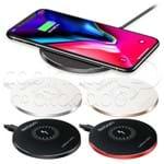 Carregador Wireless QI Redondo - Exbom - Cores Sortidas