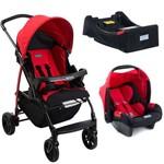 Carrinho Bebê Burigotto Ecco Red com Bebê Conforto e Base