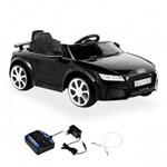Carrinho Carro Eletrico Audi Tt Rs com Controle Remoto 12v Preto Bel