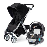 Travel System Bravo Ombra (preto) + Cadeira Keyfit Night - Chicco
