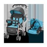 Carrinho com Bebê Conforto Travel System Flip Azul Multikids
