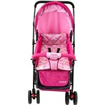 Carrinho de Bebê 4 Rodas Cosco Happy com Assento Inclinável Rosa