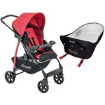Carrinho de Bebê Burigotto Ecco Red + Ninho Pramette