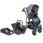 Carrinho de Bebe com Bebe Conforto e Base Explorer Azul - Kiddo