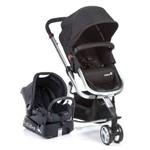 Carrinho de Bebê Travel System Mobi Black & Silver Safety 1st