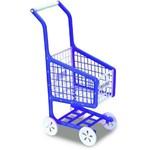 Carrinho de Mercado - Lev Pag - Azul com Branco - Elka