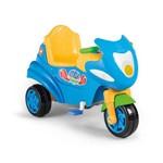 Carrinho de Passeio com Pedal Max Calesita Triciclo Azul