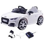 Carrinho Elétrico Infantil Audi TT Branco 12 Volts com Controle Belfix