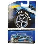 Carrinho - Hot Wheels Classicos - Custom Chevy Greenbrier Sports Wagon - Azul