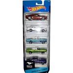 Carrinho Hot Wheels Pacote com 5 Carros Mustang 5 Mattel