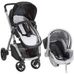 Carrinho Maly Travel System Preto - Dzieco + Cadeira para Auto Cocoon 13kg