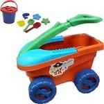Carrinho Organizador Bell Toy Cargo Aventura na Praia - 08 Peças - Laranja/verde