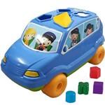 Carrinho Pedagógico Calesita Baby Car - 5 Acessórios - Azul/laranja/verde
