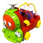 Carrinho Pedagógico Calesita Musical Donka Trem - Verde/laranja/vermelho