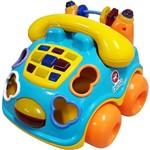 Carrinho Pedagógico Calesita Musical Falafone - 6 Acessórios - Azul/amarelo/laranja
