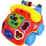 Carrinho Pedagógico Calesita Musical Falafone - 6 Acessórios - Vermelho/amarelo/azul