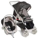 Carrinho Reversível Maranello II Travel System Preto + Bebê Conforto - Galzerano