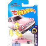 Carrinho Rosa Hot Wheels 2017 The Simpsons Family Car 9/10 112/365 DTX37 Escala 1/64