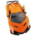 Carrinho Super Car Controle Remoto Laranja Abre as Portas 8 Funções, Acompanha Pilhas Recarregáveis e Carregador