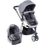 Carrinho Travel System Mobi Grey Denin Silver - Safety 1st