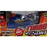 Carrinho Turbo Spin com Controle Remoto Azul - Dtc