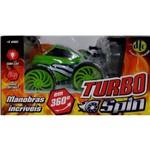 Carrinho Turbo Spin com Controle Remoto Verde - Dtc