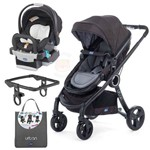 Carrinho Urban com Bebe Conforto Keyfit Black Night + Color Pack Anthracite - Chicco