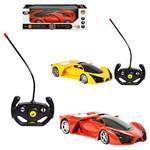 Carro com Controle Remoto Vermelho Sem Fio Sport com Luz a Pilha na Caixa