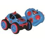 Carro Controle Remoto Spider Flip Spiderman 5851 Candide