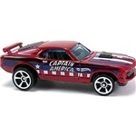 Carro Hot Wheels - Captain America Ford Mustang Mach1 70