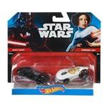 Carro Hot Wheels - Kit 2in1 Star Darth Vader Vs Leia
