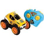 Carro Peixonauta Pirueta C/ Controle e 3 Funções - Amarelo - Candide