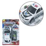 Carro Policia com Controle Remoto com Fio Racing Team Colors a Pilha na Cartela
